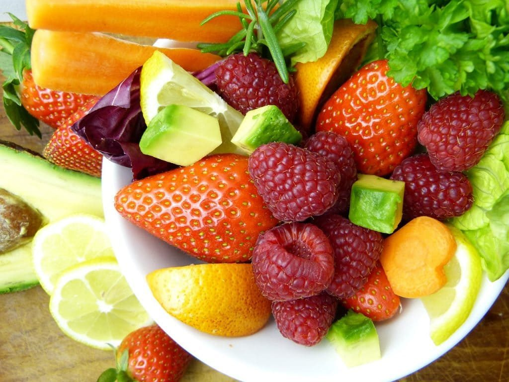 Fruit Plate with Strawberries and Raspberries